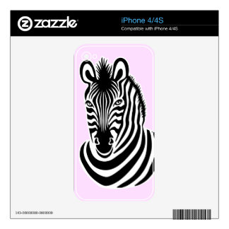 Smiling Zebra Decal For iPhone 4