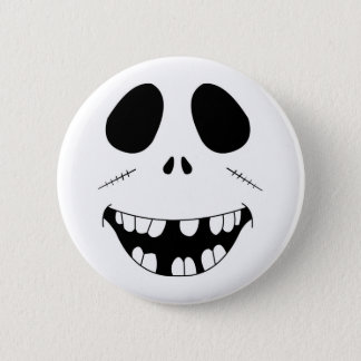 Smiling Zombie Face Pinback Button