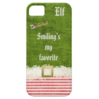 """""""Smiling's my favorite"""" Christmas Elf Quote iPhone SE/5/5s Case"""