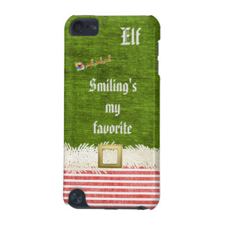 """""""Smiling's my favorite"""" Christmas Elf Quote iPod Touch (5th Generation) Case"""