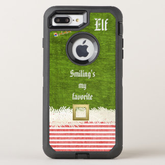 """Smiling's my favorite"" Christmas Elf Quote OtterBox Defender iPhone 7 Plus Case"