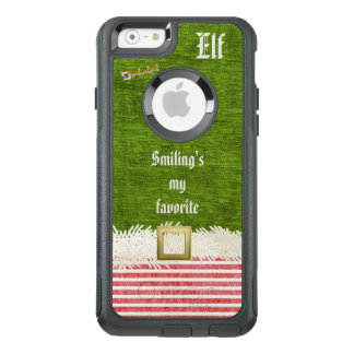 """""""Smiling's my favorite"""" Christmas Elf Quote OtterBox iPhone 6/6s Case"""