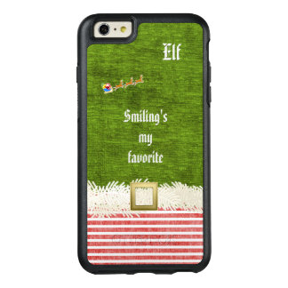 """Smiling's my favorite"" Christmas Elf Quote OtterBox iPhone 6/6s Plus Case"