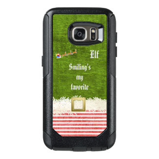 """Smiling's my favorite"" Christmas Elf Quote OtterBox Samsung Galaxy S7 Case"