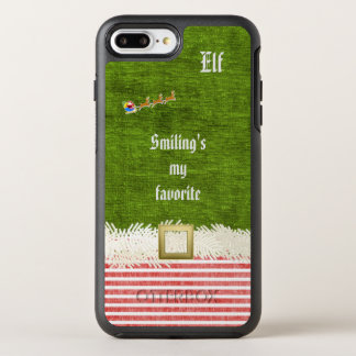 """""""Smiling's my favorite"""" Christmas Elf Quote OtterBox Symmetry iPhone 7 Plus Case"""
