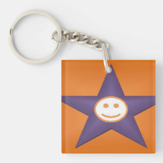 smilly face to new day keychain