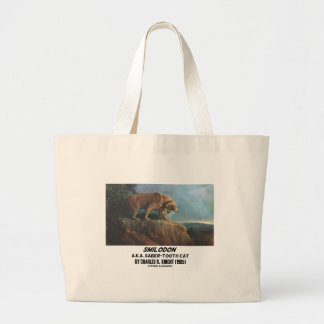 Smilodon (A.K.A. Saber-Tooth Cat) Knight (1905) Large Tote Bag