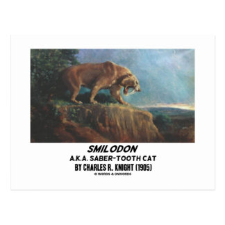 Smilodon (A.K.A. Saber-Tooth Cat) Knight (1905) Postcard