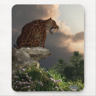Smilodon Californicus Lookout Mouse Pad