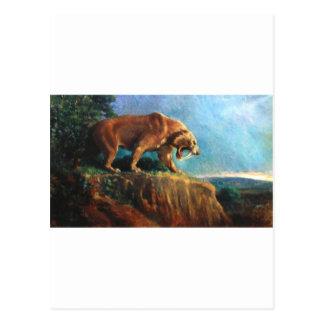 smilodon postcard