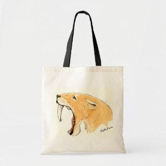 Smilodon Roar Canvas Bags
