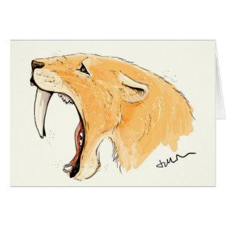 Smilodon Roar Greeting Card