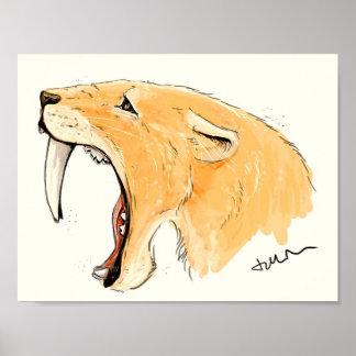 Smilodon Roar Posters