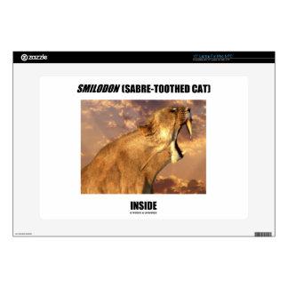 """Smilodon Sabre-Toothed Cat Inside Skin For 15"""" Laptop"""