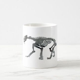 Smilodon skeleton coffee mug