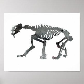 Smilodon skeleton poster