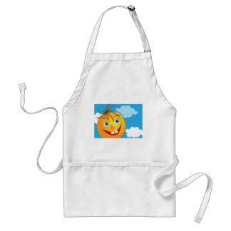 Smily face and clouds adult apron