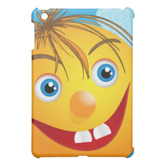 Smily face and clouds iPad mini covers