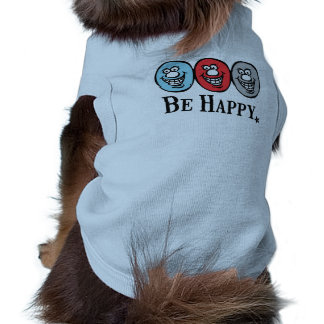 Smily Face (Be Happy) *Dog blue Tee