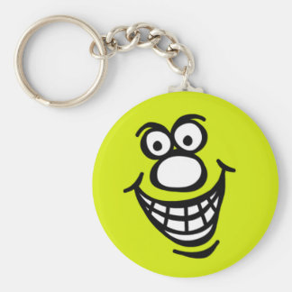 Smily Face *Keychain Green Yellow Keychain