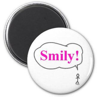 smily fridge magnet