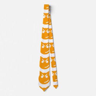 Smirking Emoji Cat Neck Tie