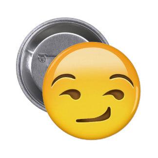 Smirking Face Emoji 2 Inch Round Button