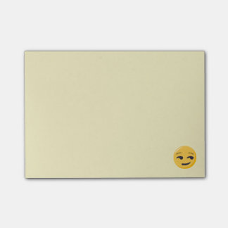 Smirking Face Post-it Notes