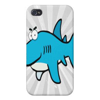 smirking shark cartoon iPhone 4 cases