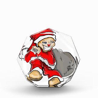 Smirky Smile Santa on the Run Holding Toy Sack Award