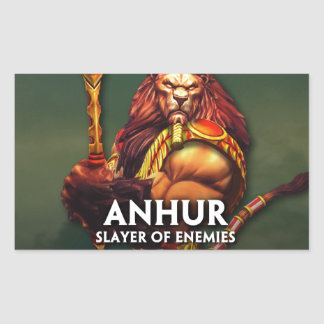 SMITE: Anhur, Slayer of Enemies Rectangular Sticker