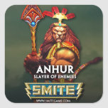 SMITE: Anhur, Slayer of Enemies Square Stickers