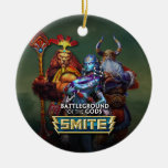 SMITE: Gods Double-Sided Ceramic Round Christmas Ornament