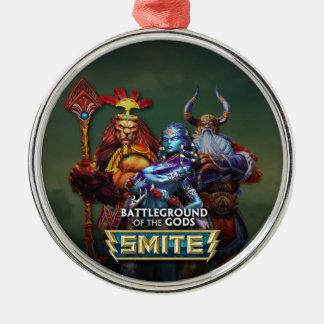 SMITE: Gods Round Metal Christmas Ornament