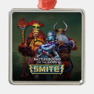 SMITE: Gods Square Metal Christmas Ornament