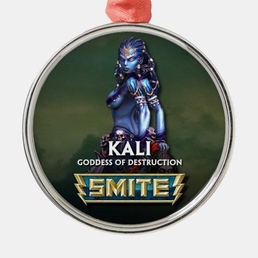 SMITE: Kali, Goddess of Destruction Round Metal Christmas Ornament