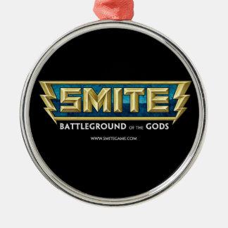 SMITE Logo Battleground of the Gods Round Metal Christmas Ornament