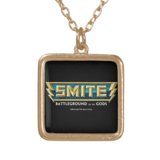 SMITE Logo Battleground of the Gods Square Pendant Necklace