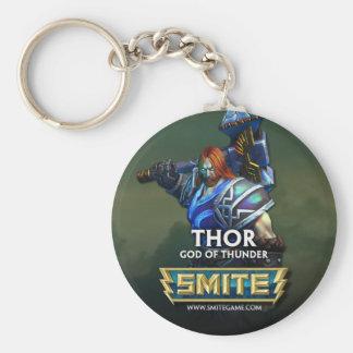 SMITE: Thor, God of Thunder Basic Round Button Keychain