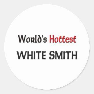 Smith blanco más caliente del mundo pegatinas redondas