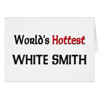 Smith blanco más caliente del mundo tarjetón