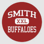 Smith - Buffaloes - Middle School - Beaumont Texas Classic Round Sticker