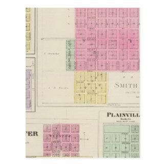 Smith Centre, Gould City, Motor, Webster, Kansas Postcard