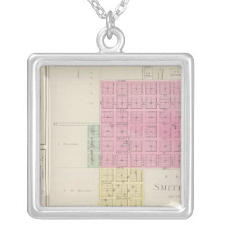 Smith Centre, Gould City, Motor, Webster, Kansas Silver Plated Necklace