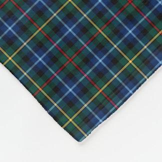 Smith Clan Royal Blue, Black and Red Tartan Fleece Blanket