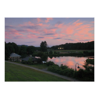 Smith College Paradise Pond Mill River Sunset Poster
