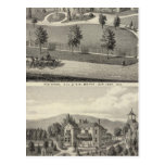 Smith, Evans residences Postcard