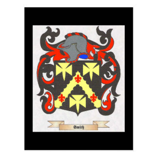 Smith Family Crest Heraldry Image to personalize Postcard