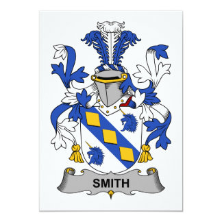 Smith Family Crest 5x7 Paper Invitation Card
