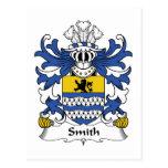 Smith Family Crest Postcard